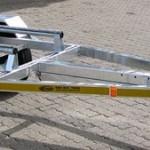 Single galvanized jet ski trailer 14 wheels