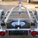 Single galvanized jet ski trailer 14 wheels1