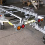 Single galvanized jet ski trailers with tow bar fitment2