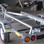 Single galvanized jet ski trailers with tow bar fitment3