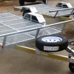 Single quad or Dbl bike galvanized trailers