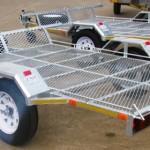 Single quad or Dbl bike galvanized trailers1
