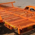 Single quad trailer in KTM orange