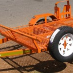 Single quad trailer in KTM orange1