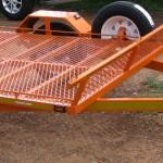 Single quad trailer in KTM orange2