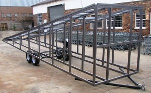 Transport of chassis wash bay ramp