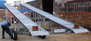 Transport of chassis wash bay ramp1
