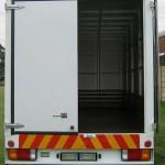 Truck van body rear